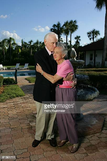 Golf Portrait of Tom Hearn with wife Helen at Jupiter Island Club Jupiter FL