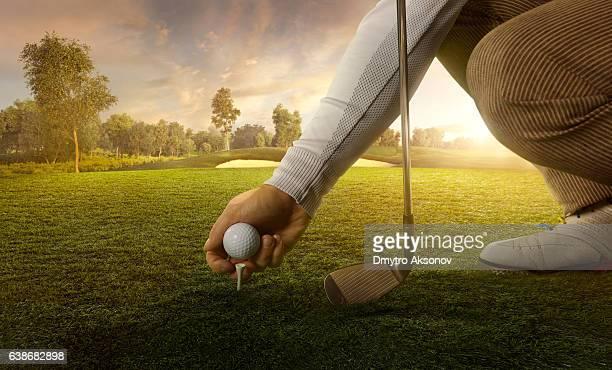 Golf: Preparing for strike