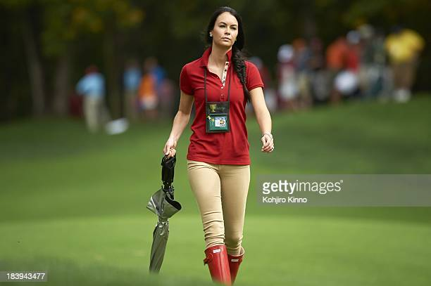 Presidents Cup Amanda Dufner wife of Team USA Justin Dufner during Sunday Singles Matches at Muirfield Village GC Dublin OH CREDIT Kohjiro Kinno