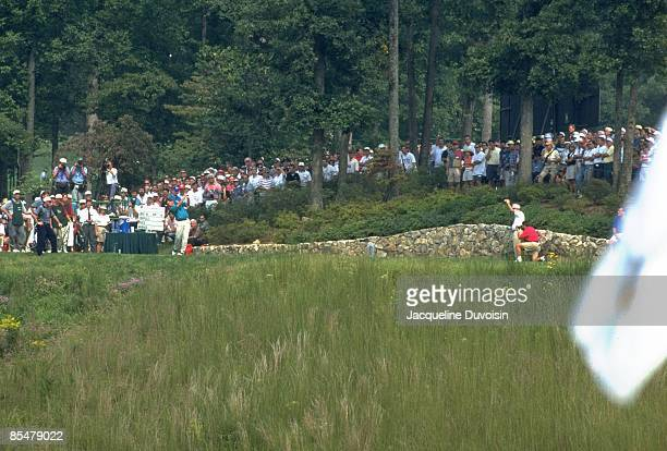 Team USA Fred Couples in action, shot during tournament play at Robert Trent Jones GC. Gainesville, VA 9/16/1994--9/18/1994 CREDIT: Jacqueline...