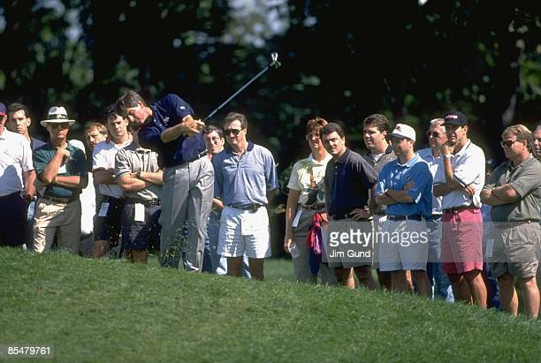 Team USA Fred Couples in action, shot during tournament play at Robert Trent Jones GC. Gainesville, VA 9/13/1996--9/15/1996 CREDIT: Jim Gund