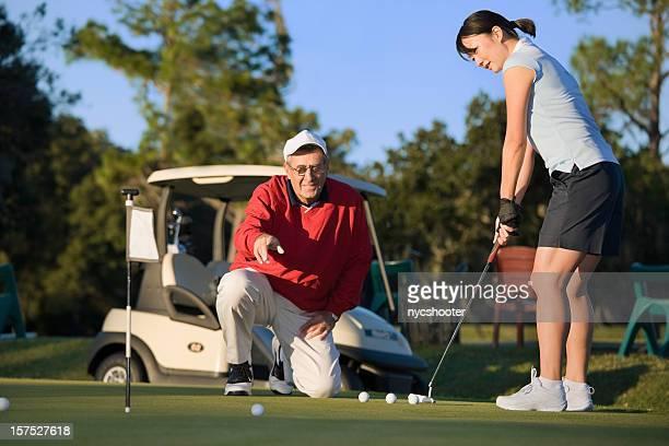 Golf putting lesson