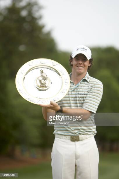 Quail Hollow Championship: Rory McIlroy victorious with trophy after Sunday play at Quail Hollow Club. Charlotte, NC 5/2/2010 CREDIT: Mike Ehrmann