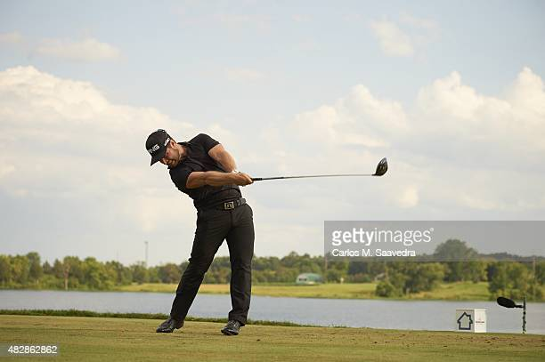 Quicken Loans National: David Lingmerth in action, drive from No 17 tee during Saturday play at Robert Trent Jones GC. Gainesville, VA 8/1/2015...