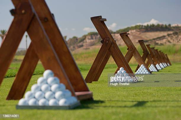 golf range - hugh threlfall stock pictures, royalty-free photos & images