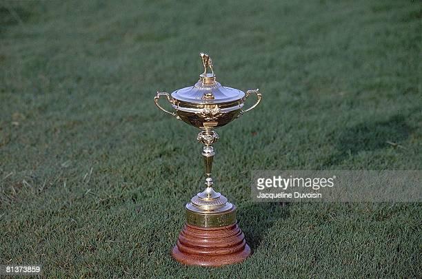Golf: Ryder Cup, Closeup of Ryder Cup trophy during USA vs Europe tournament at Kiawah Island Golf Resort, Johns Island, SC 9/26/1991