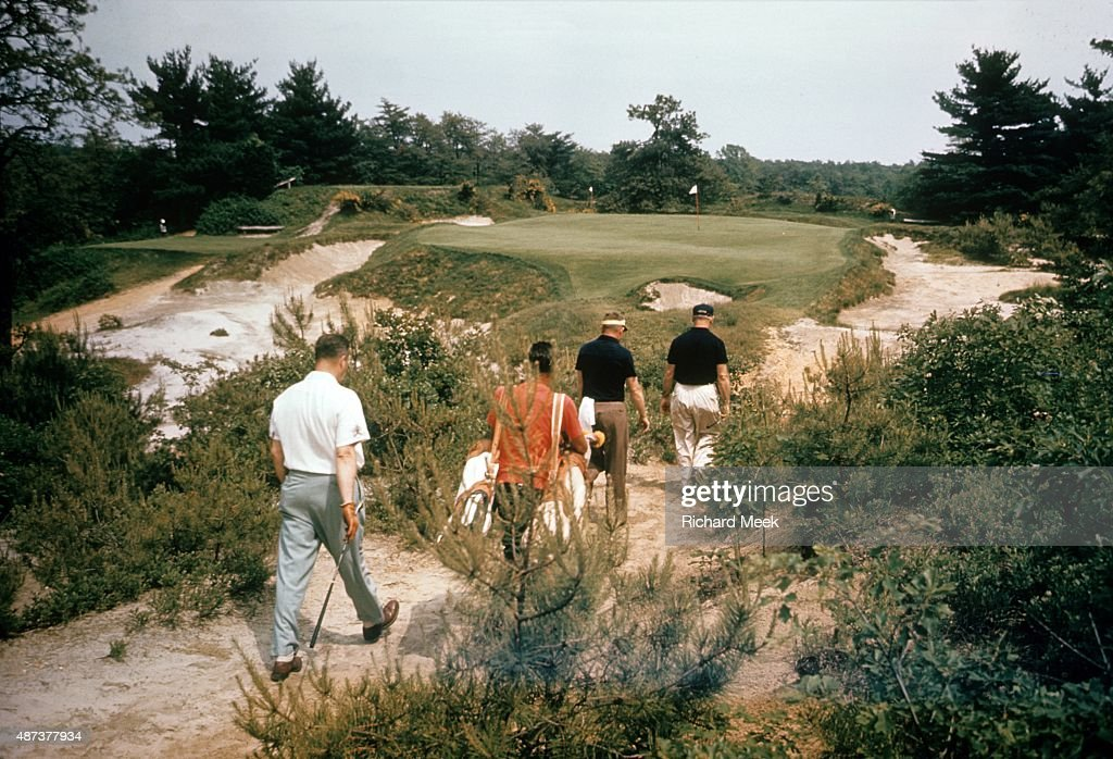 Scenic view of No. 10 hole at Pine Valley GC. Richard Meek ...