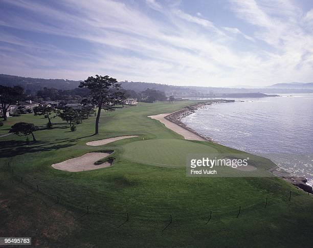 Scenic view of No 18 at Pebble Beach Golf Links. Pebble Beach, CA 1/1/1990-- CREDIT: Fred Vuich