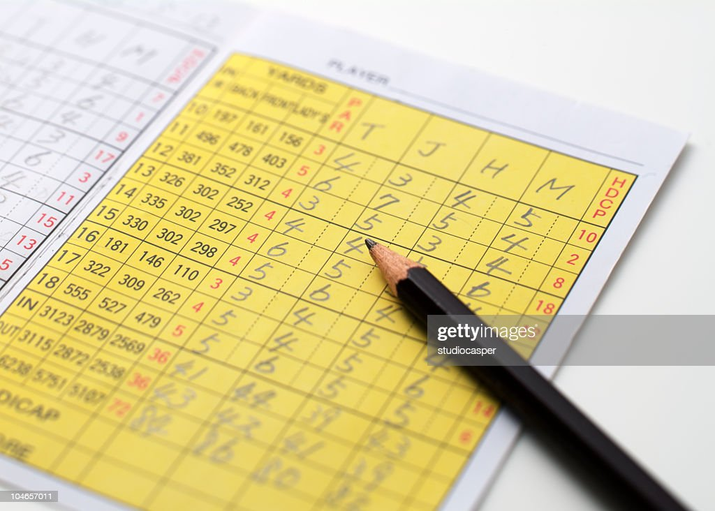golf scorecard : Stock Photo