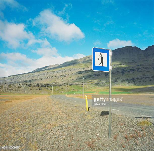 Golf Sign by Road