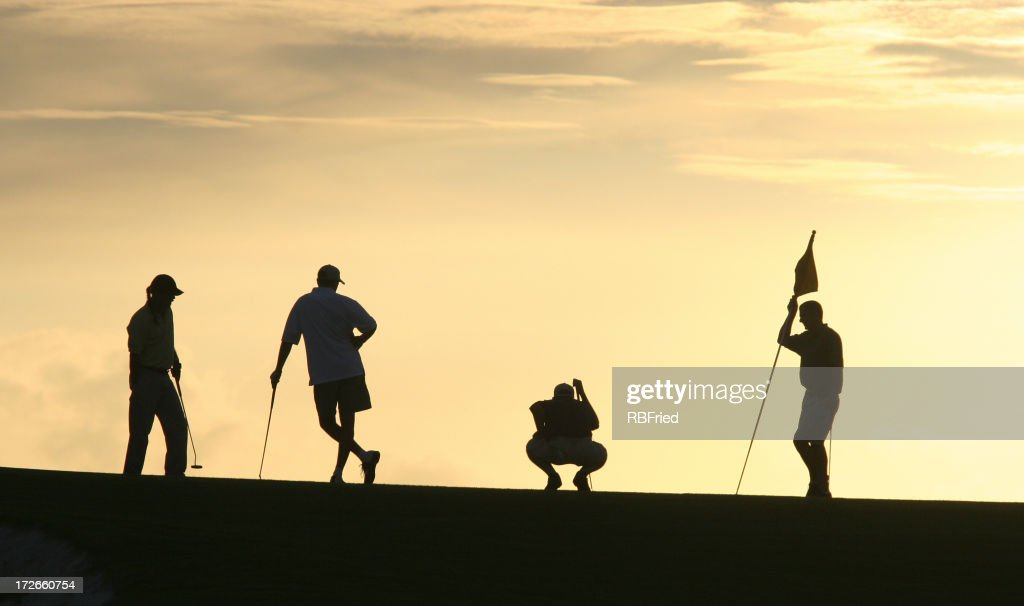 Golf Silhouettes 2 Stock Photo Getty Images