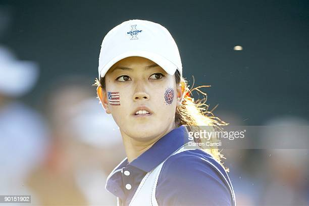 Solheim Cup Closeup of USA Michelle Wie during four ball matches during Saturday play at Rich Harvest Farms Sugar Grove IL 8/22/2009 CREDIT Darren...