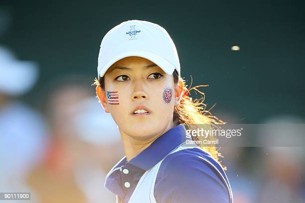 Solheim Cup Closeup of USA Michelle Wie during Saturday Fourball Matches at Rich Harvest Farms Sugar Grove IL 8/22/2009 CREDIT Darren Carroll