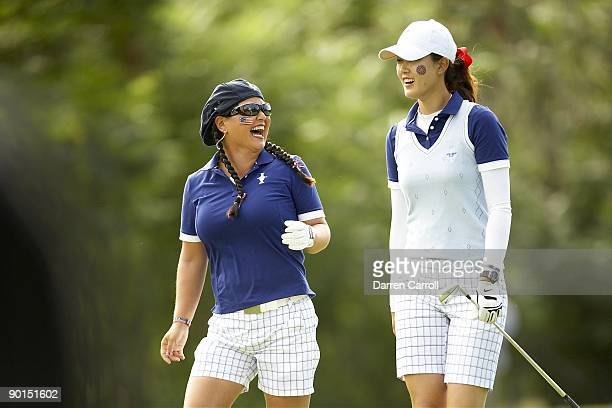 Solheim Cup USA Christina Kim and Michelle Wie during four ball matches during Saturday play at Rich Harvest Farms Sugar Grove IL 8/22/2009 CREDIT...
