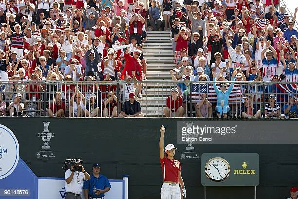 Solheim Cup USA Michelle Wie during single matches during Sunday play at Rich Harvest Farms Sugar Grove IL 8/23/2009 CREDIT Darren Carroll