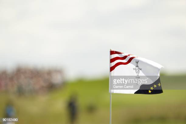 Solheim Cup View of flag during fou ball matches during Saturday play at Rich Harvest Farms Sugar Grove IL 8/22/2009 CREDIT Darren Carroll