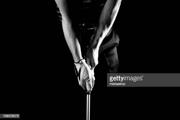 golf stance - golf stock pictures, royalty-free photos & images
