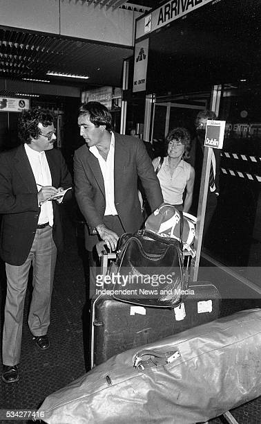 Golf Superstar Seve Ballesteros speaks to reporter when he arrived at Dublin Airport for the Carroll's Irish Open at Royal Dublin Picture Martin...