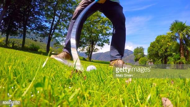 Golf Swing on the Grass