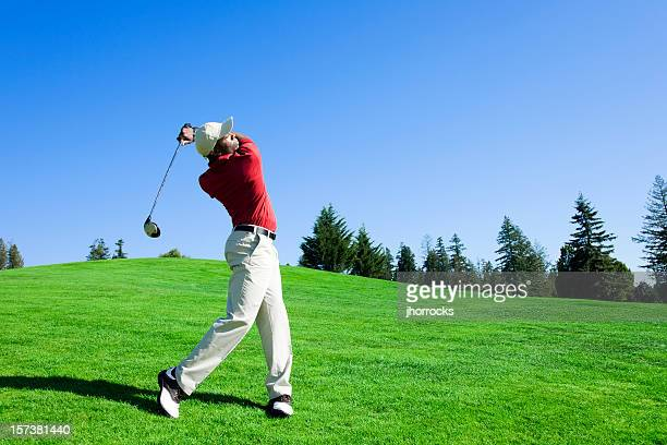 golf swing - golf swing stock pictures, royalty-free photos & images