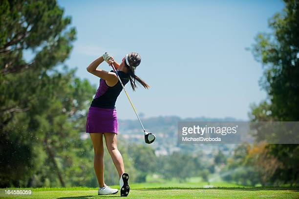 golf swing - golf stock pictures, royalty-free photos & images