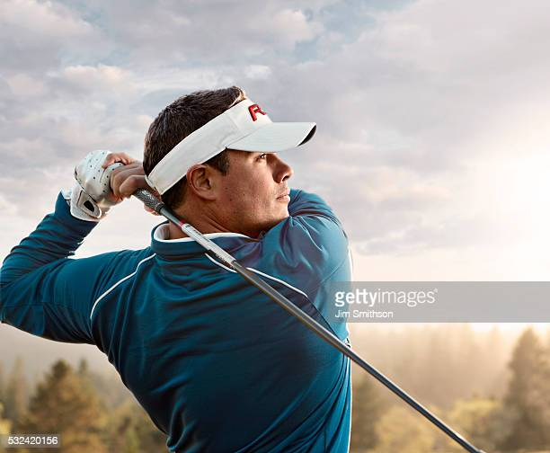 golf swing - green golf course stock pictures, royalty-free photos & images