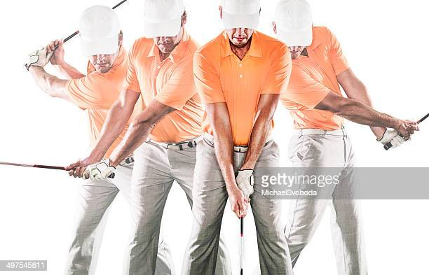 golf swing sequence - golf swing stock pictures, royalty-free photos & images