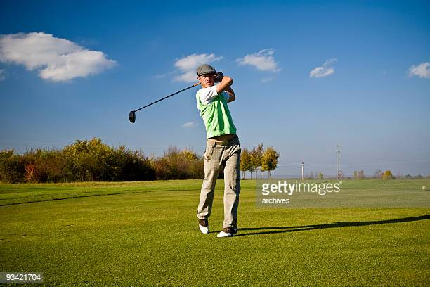 golf swing styler - driving range stock photos and pictures