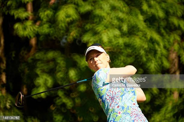 Sybase Match Play Championship Closeup of Morgan Pressel in action drive during Sunday play at Hamilton Farm GC Gladstone NJ CREDIT Carlos M Saavedra