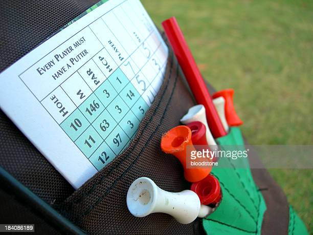 Golf tees,bag and score
