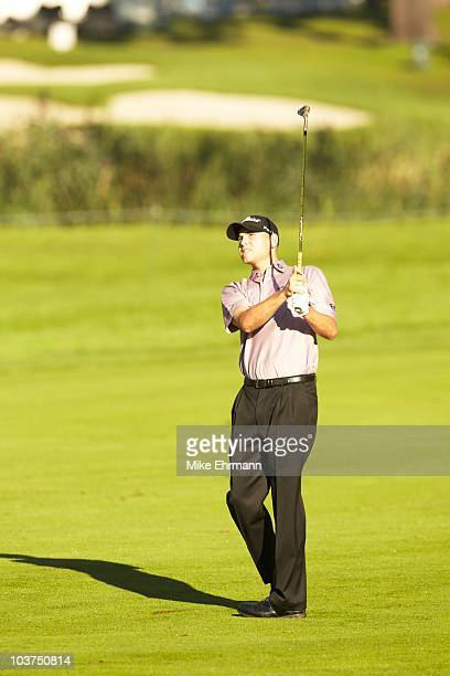 Bill Haas in action during Friday play at Ridgewood CC. FedEx Cup. Paramus, NJ 8/27/2010 CREDIT: Mike Ehrmann