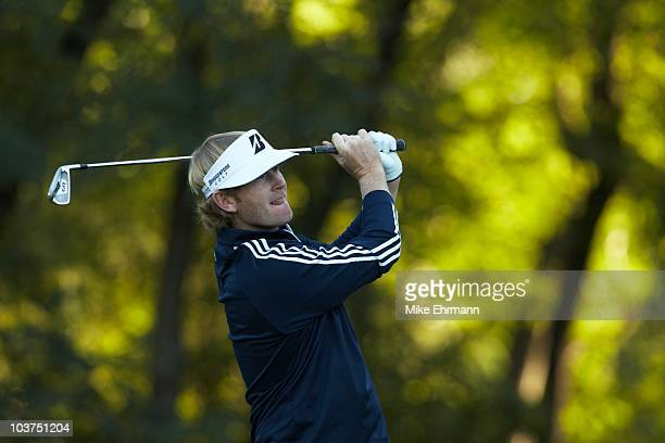 Brandt Snedeker in action during Friday play at Ridgewood CC. FedEx Cup. Paramus, NJ 8/27/2010 CREDIT: Mike Ehrmann