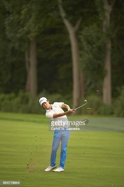 Kevin Na in action during Sunday play at Ridgewood CC. FedEx Cup. Paramus, NJ 8/24/2014 CREDIT: Carlos M. Saavedra
