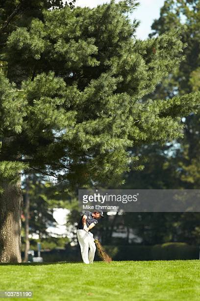 Phil Mickelson in action during Friday play at Ridgewood CC. FedEx Cup. Paramus, NJ 8/27/2010 CREDIT: Mike Ehrmann