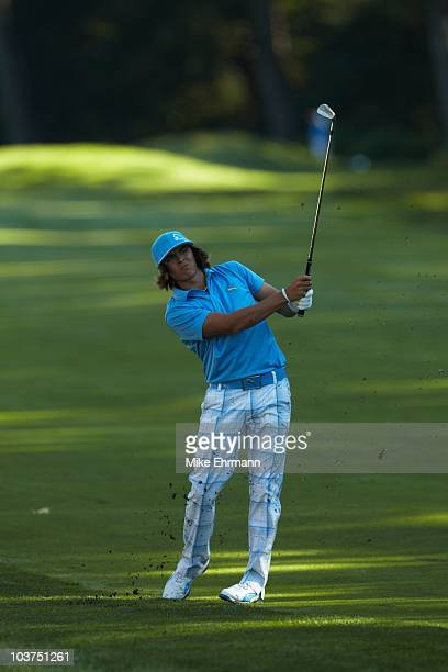 Rickie Fowler in action during Friday play at Ridgewood CC. FedEx Cup. Paramus, NJ 8/27/2010 CREDIT: Mike Ehrmann