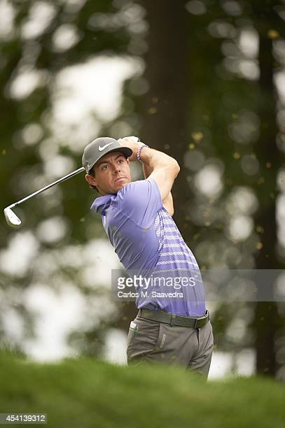 Rory McIlroy in action during Friday play at Ridgewood CC. FedEx Cup. Paramus, NJ 8/22/2014 CREDIT: Carlos M. Saavedra