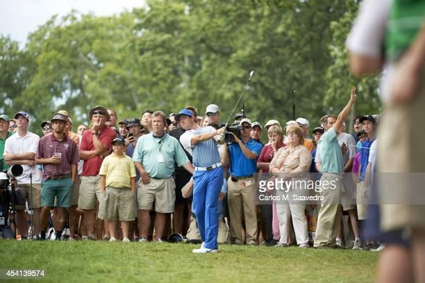 Rory McIlroy in action during Saturday play at Ridgewood CC. FedEx Cup. Paramus, NJ 8/23/2014 CREDIT: Carlos M. Saavedra