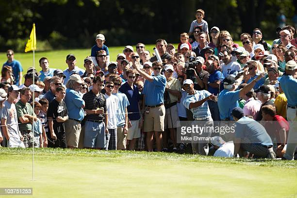 Tiger Woods in action during Friday play at Ridgewood CC. FedEx Cup. Paramus, NJ 8/27/2010 CREDIT: Mike Ehrmann