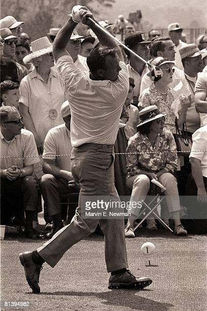 Golf The Masters Arnold Palmer in action at Augusta National Augusta GA 4/4/1965