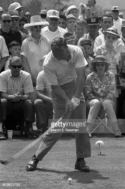 The Masters Arnold Palmer in action drive during Sunday play at Augusta National Sequence Augusta GA CREDIT Marvin E Newman