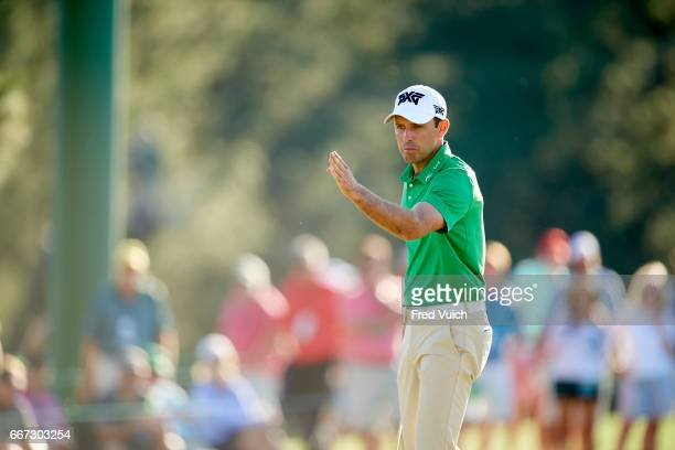 The Masters Charl Schwartzel during Sunday play at Augusta National Augusta GA CREDIT Fred Vuich