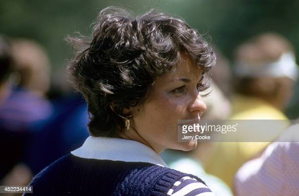 The Masters Closeup of Jeanne Weiskopf wife of Tom Weiskopf during Thursday play at Augusta National Jeanne at her 7th Masters Augusta GA CREDIT...