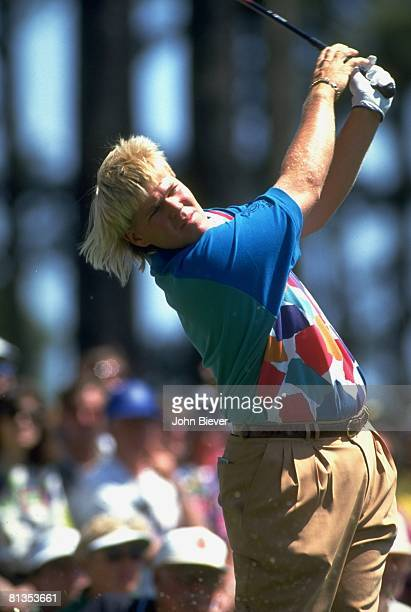 Golf The Masters Closeup of John Daly in action on Saturday at Augusta National Augusta GA 4/10/1993