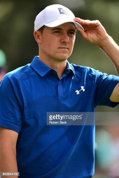 The Masters Closeup of Jordan Spieth during Friday play at Augusta National Augusta GA CREDIT Robert Beck
