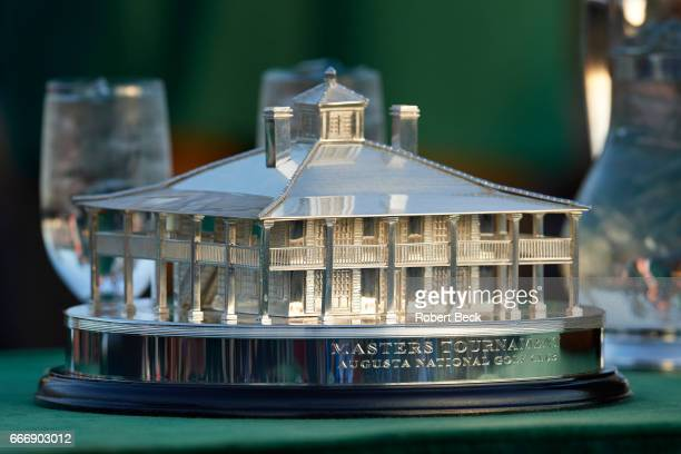 The Masters Closeup of The Masters Trophy after Sunday play at Augusta National Augusta GA CREDIT Robert Beck