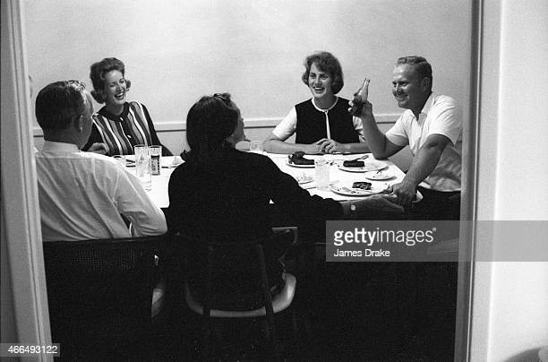 The Masters Jack Nicklaus eating with wife Barbara and friends after winning tournament Augusta GA CREDIT James Drake