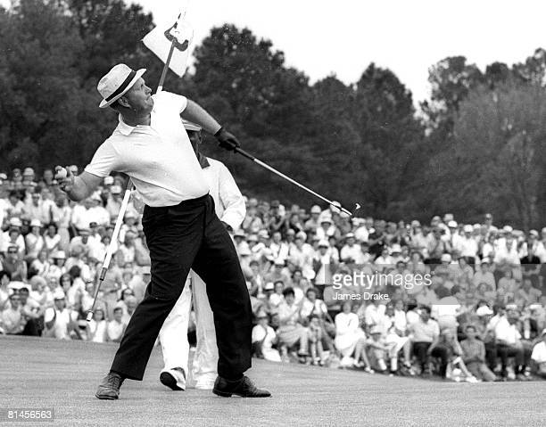 Golf The Masters Jack Nicklaus victorious during Sunday play at Augusta National Augusta GA 4/12/1965