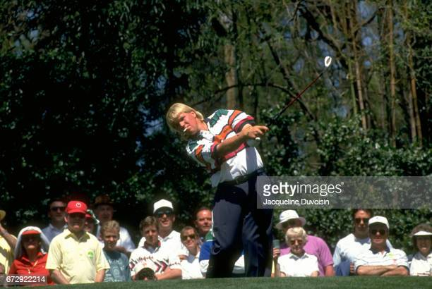 The Masters John Daly in action during Thursday play at Augusta National Augusta GA CREDIT Jacqueline Duvoisin