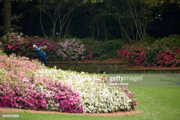 The Masters Jordan Spieth in action drive during Friday play at Augusta National Augusta GA CREDIT Kohjiro Kinno