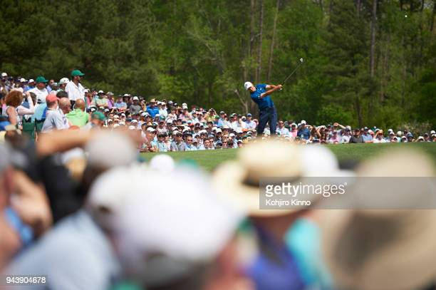 The Masters Jordan Spieth in action during Friday play at Augusta National Augusta GA CREDIT Kohjiro Kinno